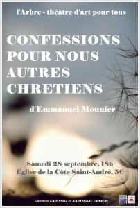 AFFICHE Confessions pour nous autres chrétiens